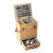 image of Greenfield Collection Carlton Willow Picnic Hamper for Four People
