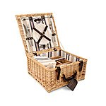 image of Greenfield Collection Chilworth Willow Picnic Hamper for Two People