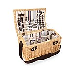 image of Greenfield Collection Oxford Willow Picnic Hamper for Four People