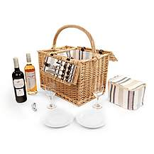 image of Greenfield Collection Arundel Willow Picnic Hamper for Two People