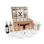 image of Greenfield Collection Ludlow Willow Picnic Hamper for Four People