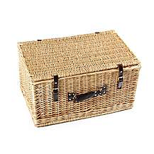image of Greenfield Collection 62cm Classic Willow Picnic Hamper