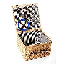image of Greenfield Collection Winchester Willow Picnic Hamper for Four People