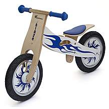 image of Kidzmotion blaze Wooden Balance Bike / First Bike / Running Bike