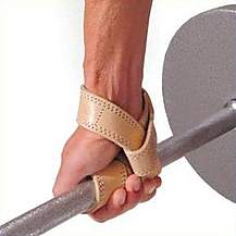 image of Golds Gym Lifting Straps Premium Tan Leather