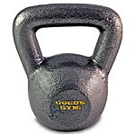 image of Golds Gym 2 X 4kg Kettlebell - Grey