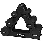 image of Tunturi Neoprene Dumbbell Set With Triangle Stand