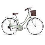 image of Kingston Hampton, Traditional Shopper Ladies Bike, 7 Speed, Sage, 16in