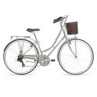 Kingston Hampton, Traditional Shopper Ladies Bike, 7 Speed, Sage, 19in