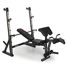 image of Marcy Diamond Elite Olympic Weight Bench With Squat Rack