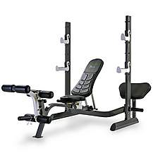 image of Tunturi Pure Olympic Weight Bench With Rack And Folding Design