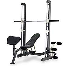 image of Tunturi Pure Compact Smith Machine Weight Bench With Folding Design
