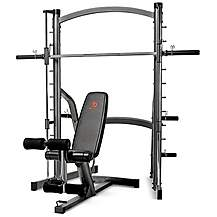 image of Marcy Sm1000 Deluxe Smith Machine With Weight Bench