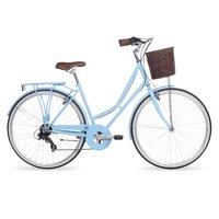 Kingston Hampton, Traditional Shopper Bike, 7 Speed, Ladies, Blue, 19in