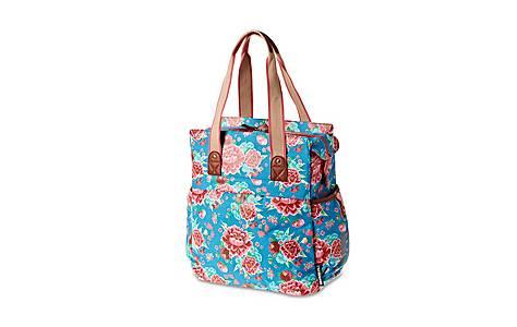image of Basil Bloom Diva Blue Shopper Bag