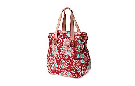 image of Basil Bloom Scarlet Red Shopper Bag