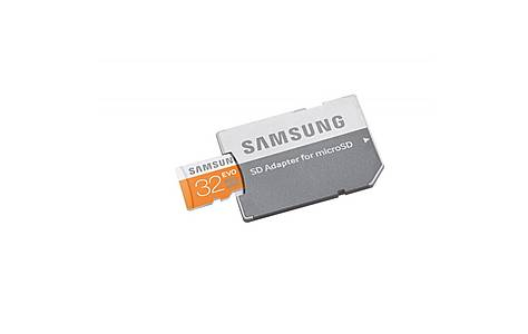 image of 32gb Evo Microsdhc Uhs-i Grade 1 Class 10 Memory Card With Sd Adapter