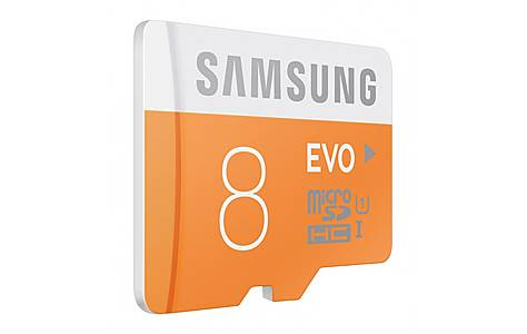 image of 8gb Evo Microsdhc Uhs-i Grade 1 Class 10 Memory Card With Sd Adapter