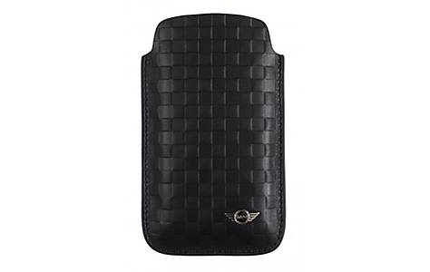 image of Large Leather Chequered Slip Pouch
