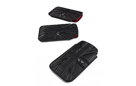 image of Large Union Jack Slip Leather Pouch