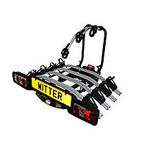 image of Zx504 Towball Mounted Tilting 4 Bike Cycle Carrier
