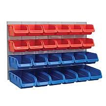 image of Faithfull 24 Plastic Storage Bins With Metal Wall Panel