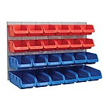 image of Faithfull 24 Plastic Storage Bins With Metal Wall Panel
