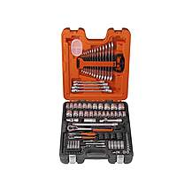 image of Bahco S106 Socket & Spanner Set Of 106 Metric 1/4 & 1/2in Drive