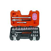 image of Bahco S240 Socket Set Of 24 Metric 1/2in Drive