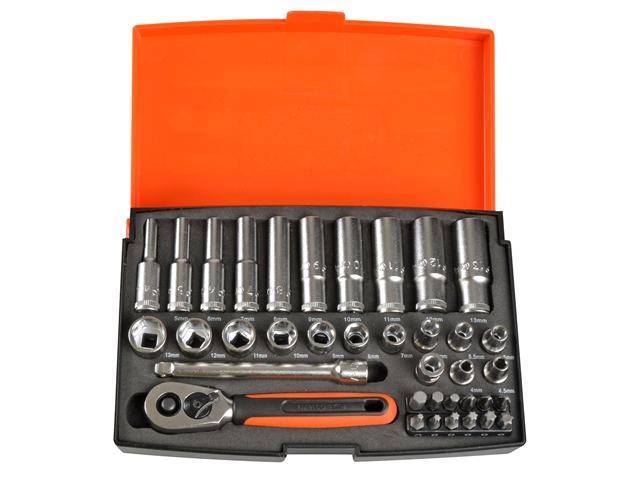 Bahco Sl25l Socket Set Of 37 Metric 1/4in Deep Drive lowest price