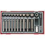 image of Teng Tthex23 23 Piece Metric Hex Bit Socket Set