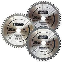 image of Lumberjack Tct Circular Saw Wood Blade 160mm For Festool Ts55 3 Blade Pack