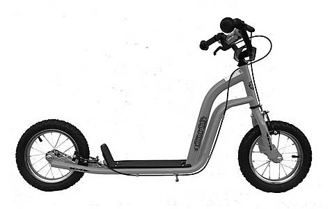 image of 1080 Kids Childs UH Push Stunt Kick Scooter 12inch Pneumatic Tyres Grey