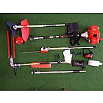 image of Forest Master 5 In 1 Multi Tool 52cc Petrol Garden Multitool Hedge Trimmer Bush Cutter Strimmer Pruner Saw