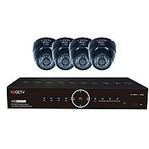 image of Hd1080p 4 Camera Cctv System With Vandal Resistant Ir Dome Cameras And 1tb Dvr