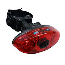 image of Raleigh Rsp Elliptical Light Ultra Bright Led Rear Cycle Light Straps Also Suitable For Helmets And Dog Walkers