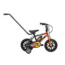 image of Sunbeam Boys Mx 12 Boys Kids Bike With Push Handle Suit 3 - 5 Year Old