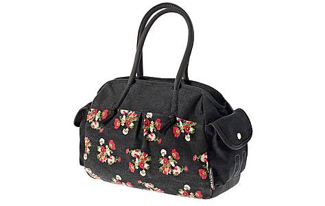 image of Basil - Kathrina Shoulder Bag Black With Flowers 17l
