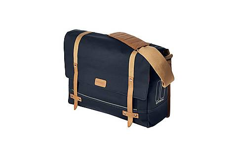 image of Basil - Basil Portland Messenger Bag 16l And Pouch With Raincover Dark Blue Dark Blue 16 Litre