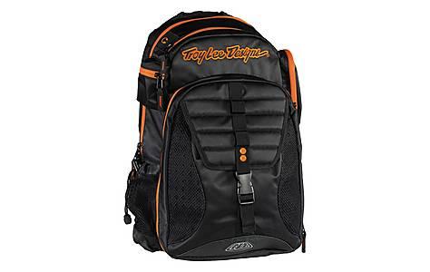image of Troy Lee - Luggage Backpack Ignition - Black/orange My16 Black/orange