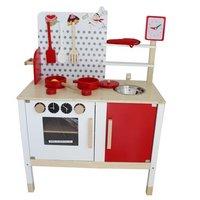 Kidzmotion La Petite Cuisine Deluxe Unisex Wooden Pretend Kids Toy Kitchen