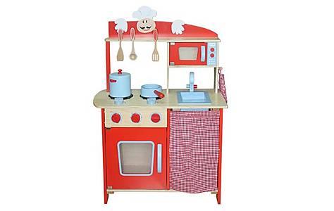 image of Kidzmotion La Cuisine Moyen Deluxe Unisex Wooden Pretend Kids Toy Kitchen
