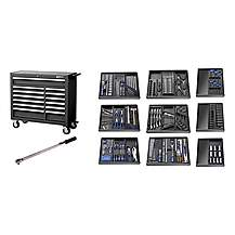 image of Britool Expert E220334b Roller Cabinet Toolkit 390 Piece Black