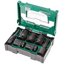 image of Hitachi 400.300.25 Stackable Accessory 1/2in Impact Socket Set (7 Pieces) - 40030025