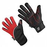 image of Indigo 3 Season Neoprene Cycling Gloves - Red - X Large