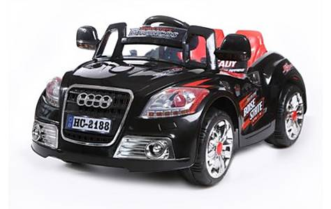 image of New Coupe Roadster 12v Kids Electric Ride On In Black