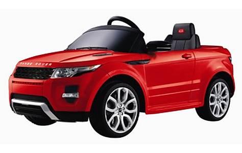image of Range Rover Evoque - 12v Licensed Electric Ride On Car - Red