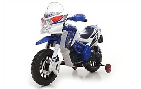 image of Kids Motocross Ride On Battery Powered 6v Motorbike Bike In Blue