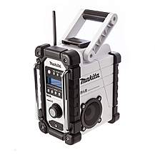 image of Makita DMR104W White Job Site Radio Stereo with DAB and FM (Replaces BMR104W)
