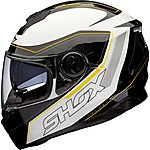 image of Shox Assault Tracer Motorcycle Helmet M Black/white/fluro